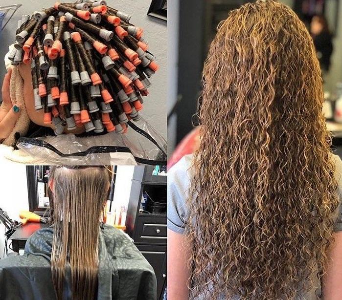 spiral perm hair